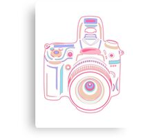 Cute Pastel Camera Canvas Print