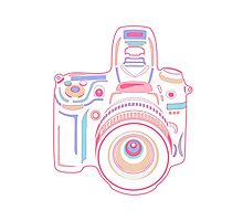 Cute Pastel Camera Photographic Print