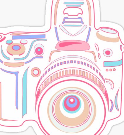 Cute Pastel Camera Sticker