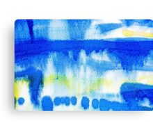 Blue Ink Abstract Painting Canvas Print