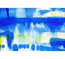 Blue Ink Abstract Painting Photographic Print