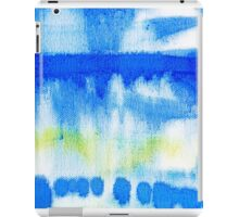Blue Ink Abstract Painting iPad Case/Skin