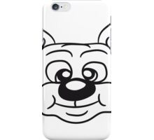 face head funny sweet cute little puppy sitting happily wolf cat iPhone Case/Skin