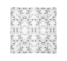 White and Black Abstract Pattern Scarf