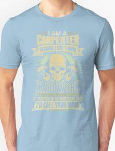 Carpenter T-shirt , carpenter, carpentry, craft, funny, handyman, handymen, hobbies, hobby, humor, i play with saws, occupation, phrases,  T-Shirt