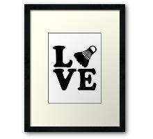 Badminton love Framed Print