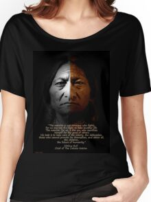 Sitting Bull Warrior quote. Poster Women's Relaxed Fit T-Shirt