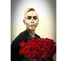 Skull Tux And Roses Photographic Print