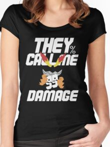 They Call Me Damage Women's Fitted Scoop T-Shirt