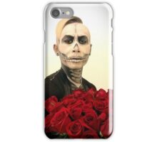 Halloween Skull Tux And Roses iPhone Case/Skin