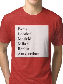 Cities in europe Tri-blend T-Shirt