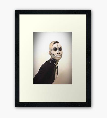 Halloween Skull and Tux Framed Print