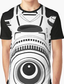Black and White Camera Graphic T-Shirt