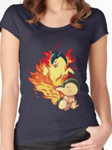 Cyndaquil Typhlosion Women's Fitted Scoop T-Shirt