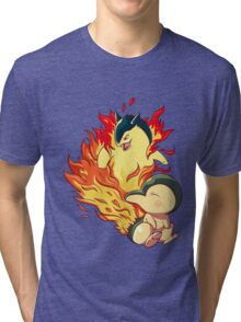 Cyndaquil Typhlosion Tri-blend T-Shirt
