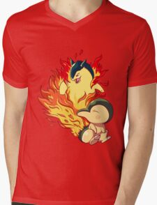 Cyndaquil Typhlosion Mens V-Neck T-Shirt
