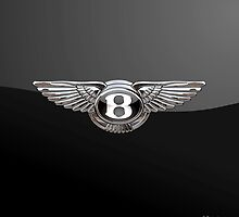 Bentley Badge on Black by Serge Averbukh