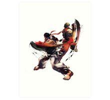 Street Fighter - Ken & Ryu Art Print