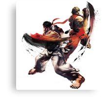 Street Fighter - Ken & Ryu Canvas Print