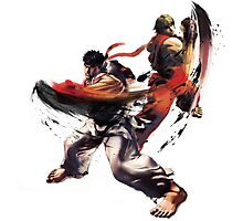 Street Fighter - Ken & Ryu Photographic Print