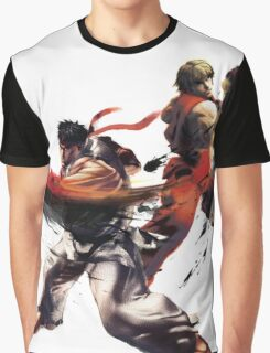Street Fighter - Ken & Ryu Graphic T-Shirt