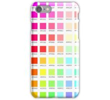 hex chart v1 iPhone Case/Skin