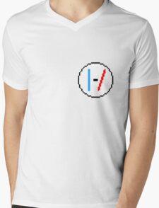 TwentyOnePilots Pixel Logo Mens V-Neck T-Shirt