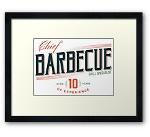 BBC Chef (Barbecue Specialist) Framed Print