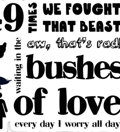 Bushes of Love Sticker