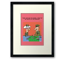 Funny Military War Games Cartoon Framed Print
