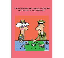 Funny Military War Games Cartoon Photographic Print