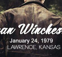 Dean Winchester '79 Sticker