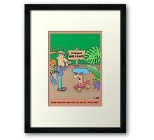 Funny Social Networking Cartoon Framed Print