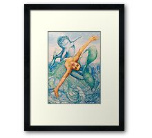 Astrology Zodiac Signs Pisces Drawing Framed Print