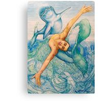 Astrology Zodiac Signs Pisces Drawing Canvas Print