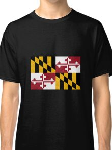 Floral Maryland Flag Classic T-Shirt