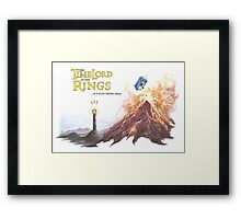 TimeLord of the Rings Framed Print
