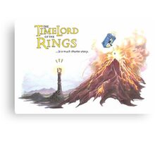 TimeLord of the Rings Canvas Print