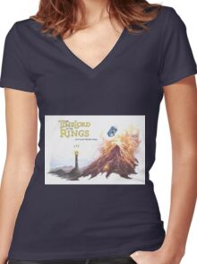 TimeLord of the Rings Women's Fitted V-Neck T-Shirt