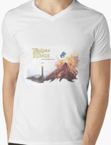 TimeLord of the Rings Mens V-Neck T-Shirt