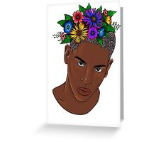 Flower man digital Greeting Card