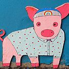 Shirted Rainbow Pig  by Ethna Gillespie
