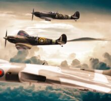 Vulcan and Spitfires in formation Sticker