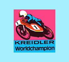 Vintage Moped Motor Cycle Kreidler Race Decal Women's Fitted Scoop T-Shirt