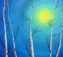 Birch Trees by JoAnnFineArt