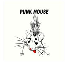 Punk Mouse Design Art Print