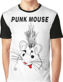 Punk Mouse Design Graphic T-Shirt