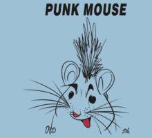 Punk Mouse Design Kids Tee