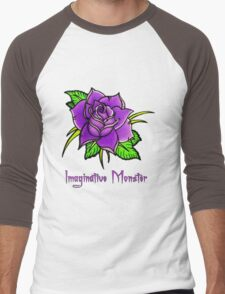 Lavender Rose Men's Baseball ¾ T-Shirt