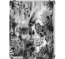 May showers, melting floral skull in grey iPad Case/Skin